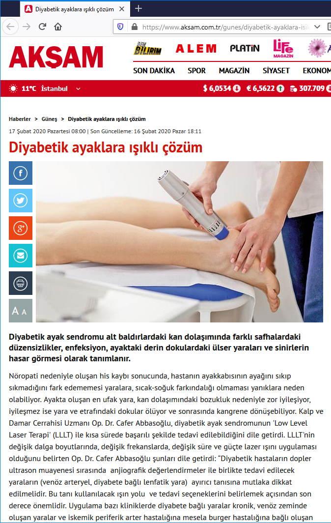 Diyabetik Ayaklara Işıklı Çözüm